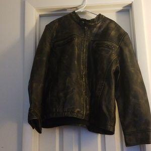 Men's XXL Brown Leather Jacket
